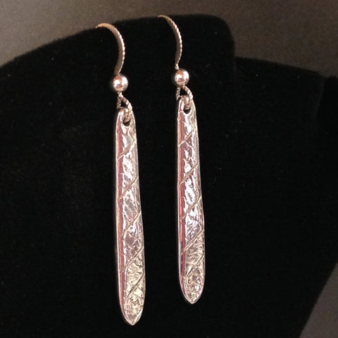 Dangling Blade Earrings in .999 Pure Silver