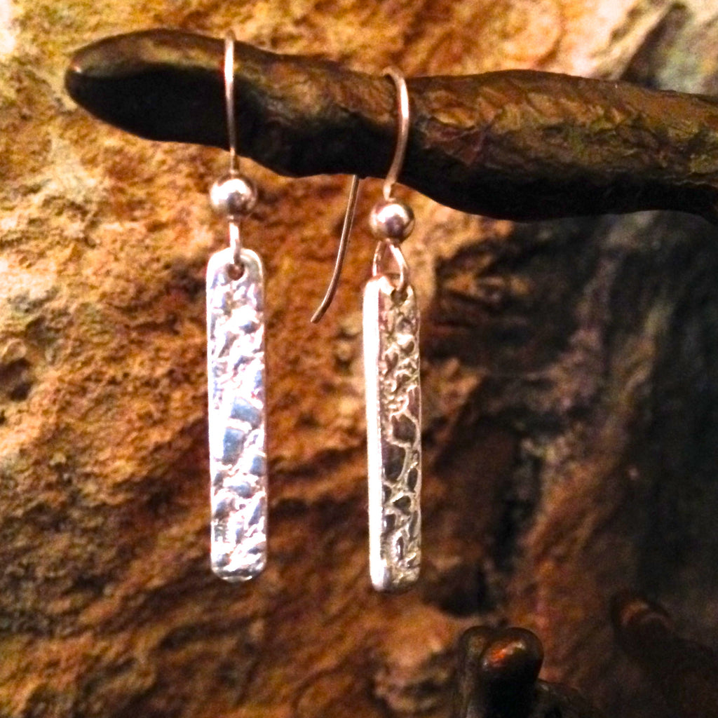 Rectangle Earrings in .999 Pure Silver