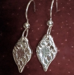 Teardrop Earrings in .999 Pure Silver