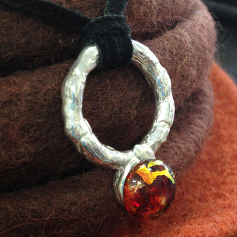 Embodied Sphere Pendant in .999 Pure Silver