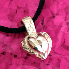 Heart Relief Pendant in .999 Pure Silver