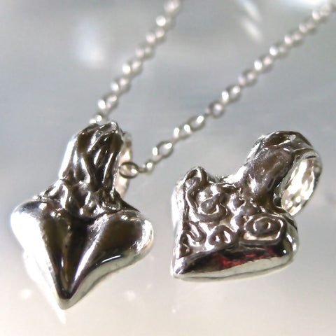 "Strong Heart Pendant in .999 Pure Silver, with Sterling 18"" Chain"