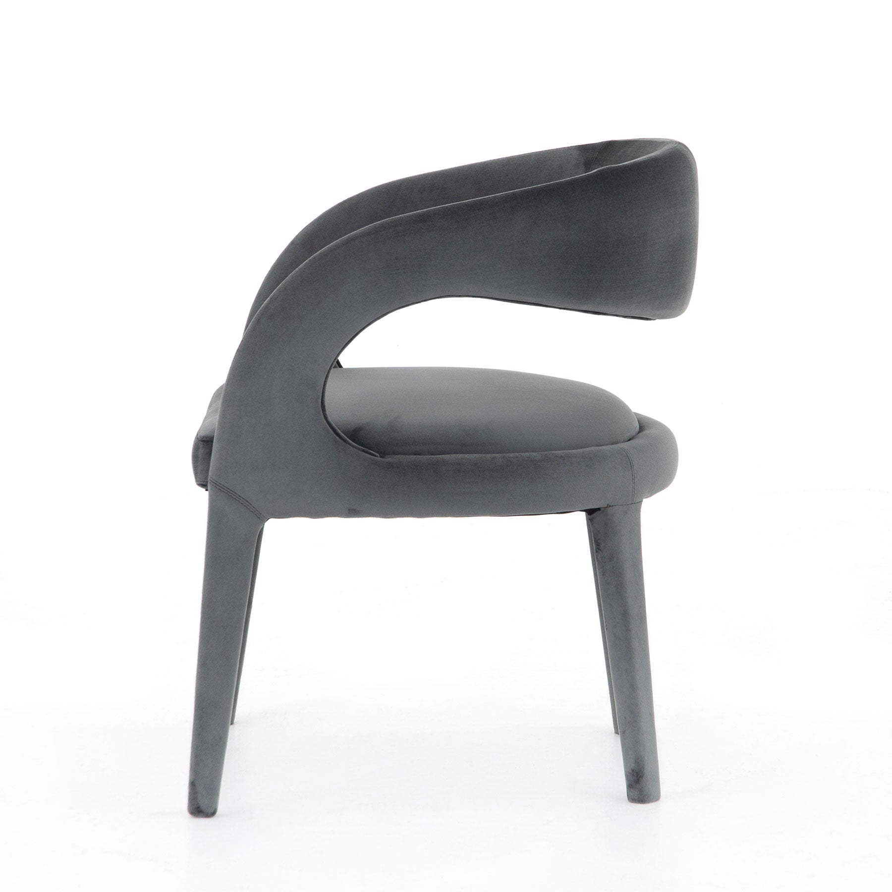 Brittan Dining Chair Charcoal Velvet
