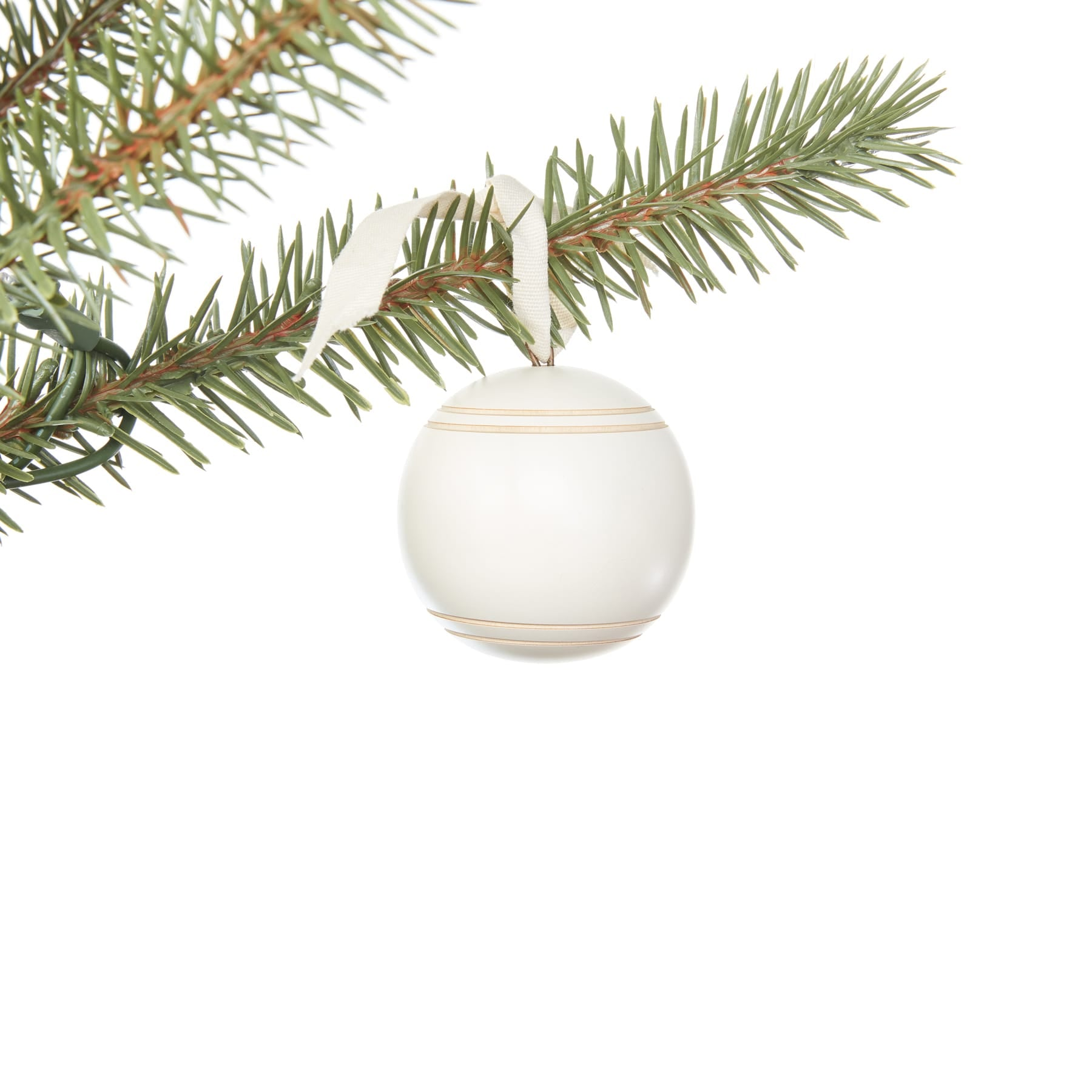 Nova White Ornaments