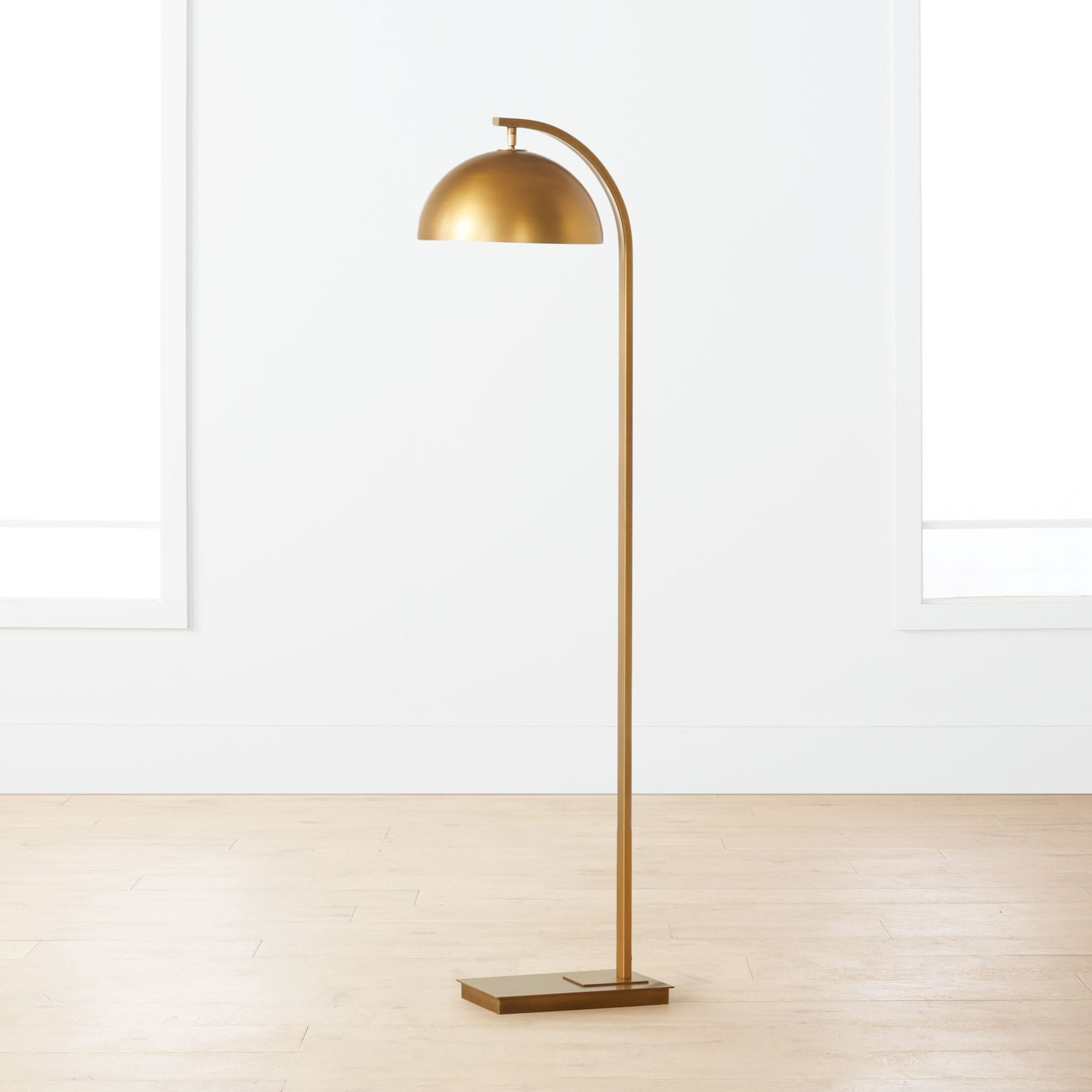 Davy Brass Floor Lamp