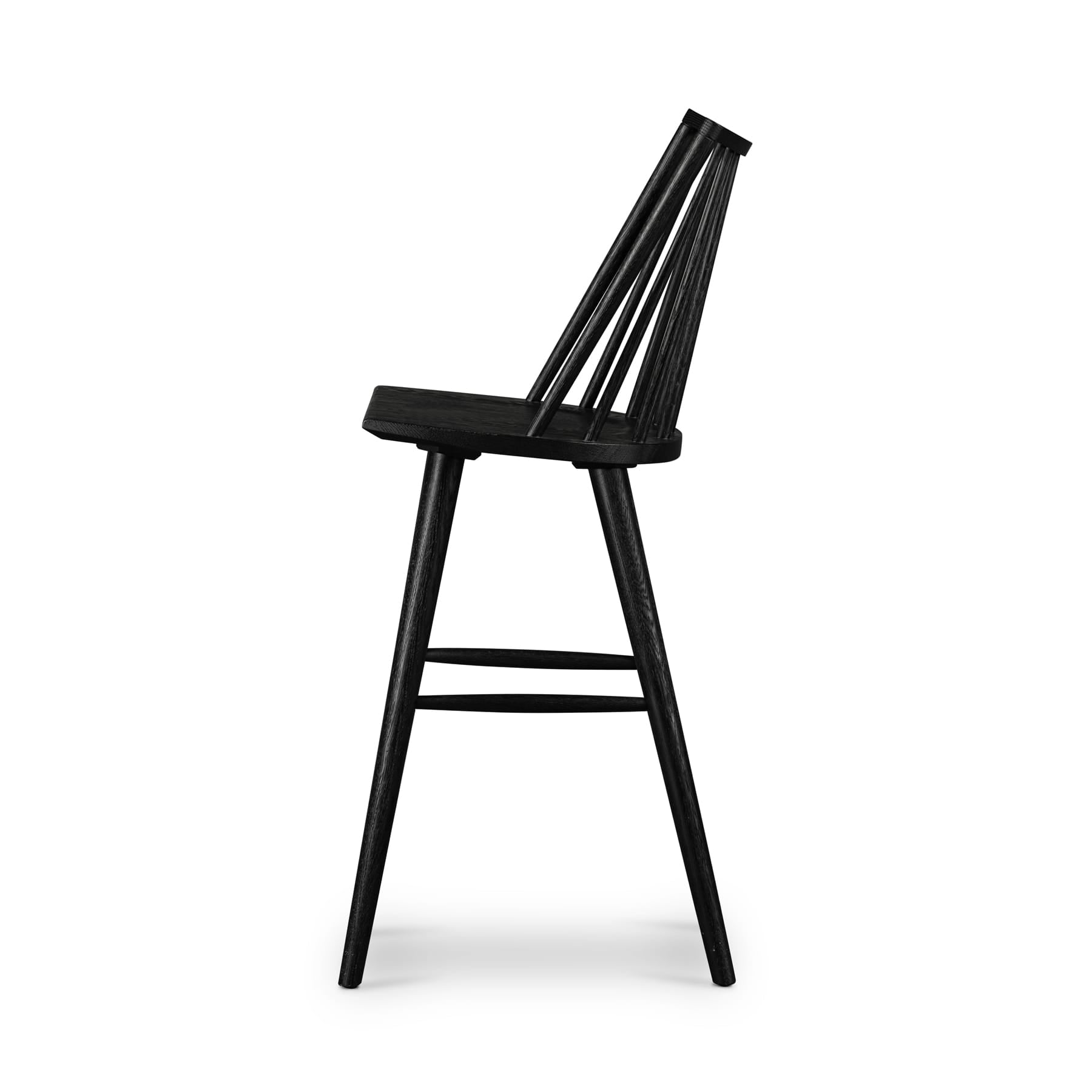 Harvey Black Oak Bar + Counter Stool