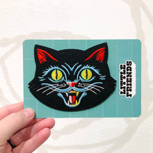 Load image into Gallery viewer, Big Black Cat Embroidered Patch