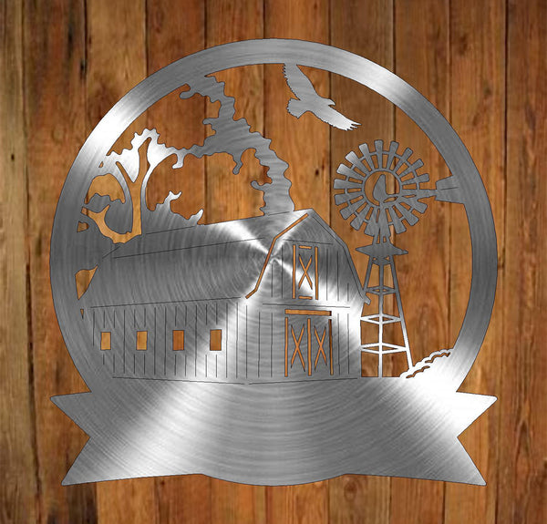 Barn and Windmill Monogram freeshipping - Price Metal & Fabrication
