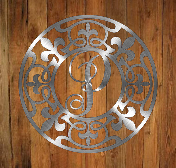 Fleur-de-lis Monogram freeshipping - Price Metal & Fabrication