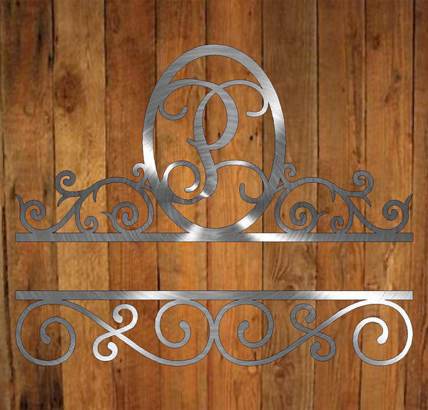 Split Scroll Monogram freeshipping - Price Metal & Fabrication