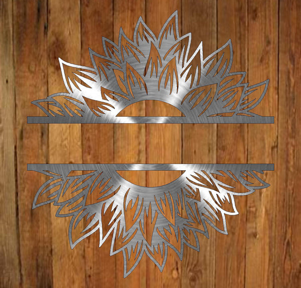 Sunflower Split Monogram freeshipping - Price Metal & Fabrication