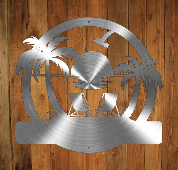 Sunset Beach Monogram freeshipping - Price Metal & Fabrication