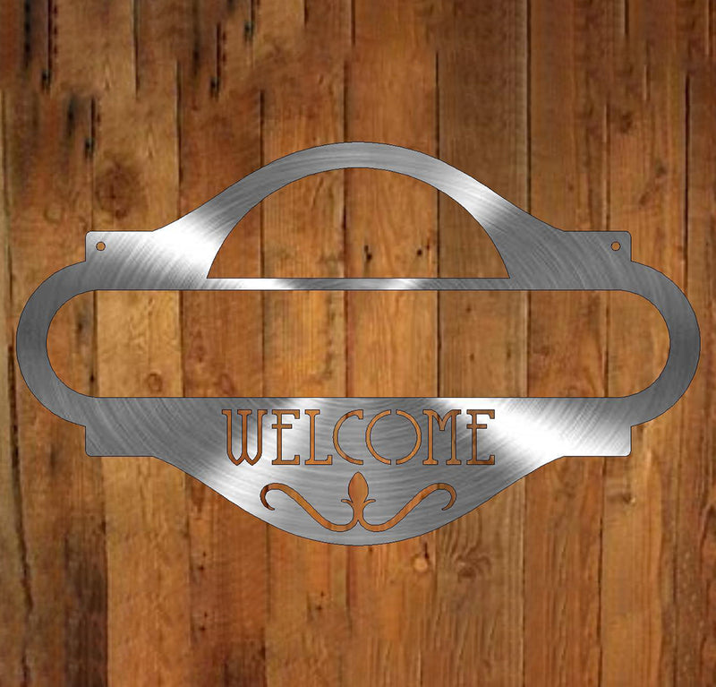 Welcome Address Plaque freeshipping - Price Metal & Fabrication