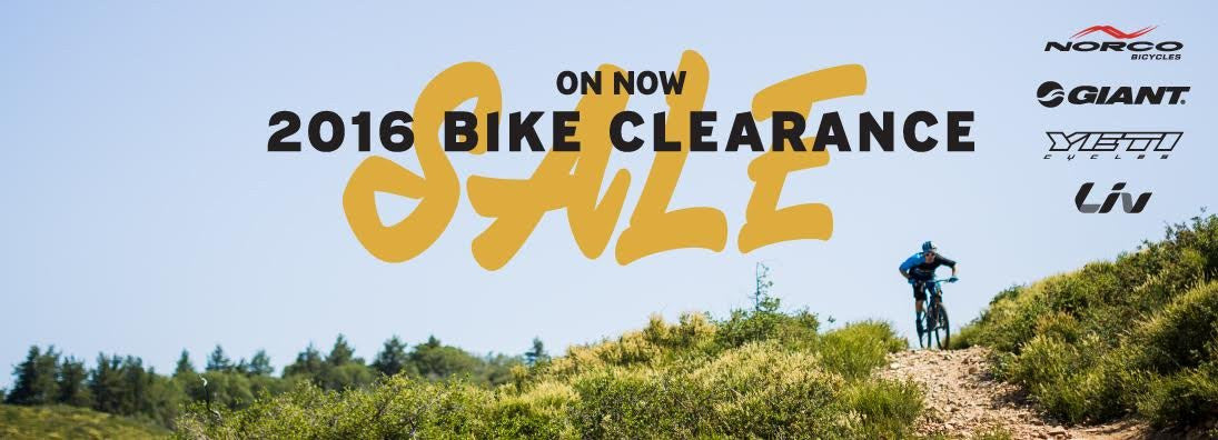 2016 Bike Clearance Sale