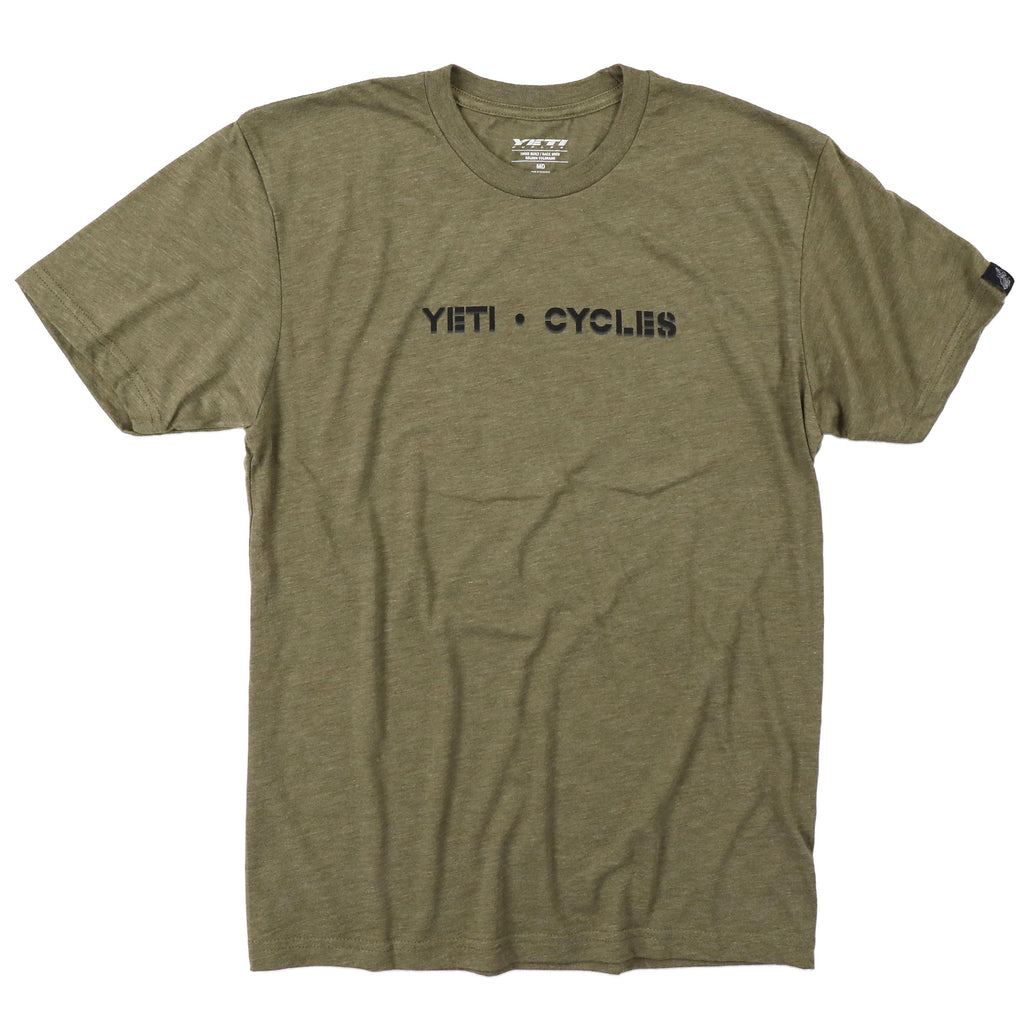 BLOCK LOGO TEE ARMY GREEN SM