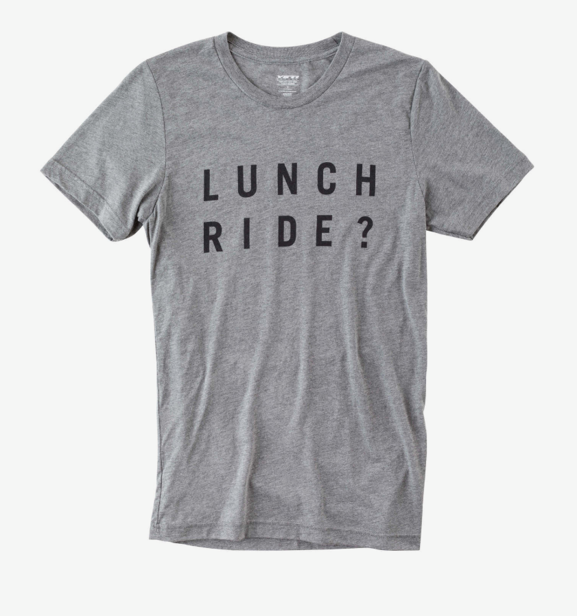 LUNCH RIDE TEE GREY/BLACK