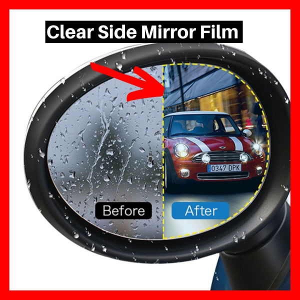 Perfectly Clear Side Mirror Film for All Weather