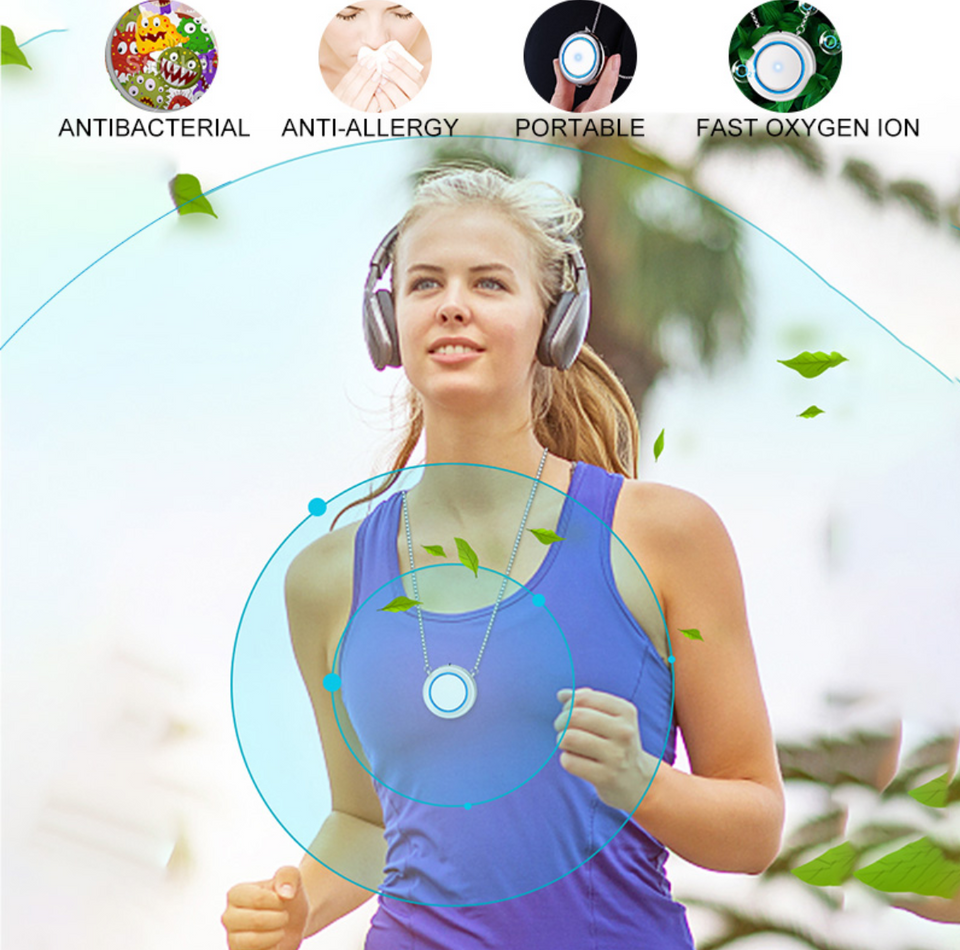 Mini Wearable Air Purifier Necklace