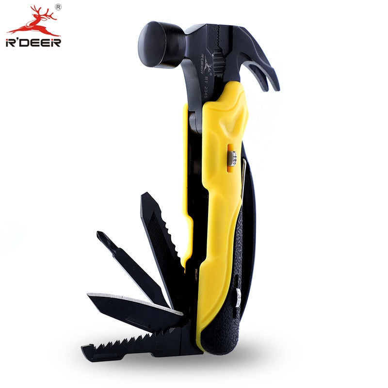 Multi Tool Outdoor Survival Knife 7 in 1 Pocket Multi Function Tools Set Mini Foldaway Plers Knife Screwdriver