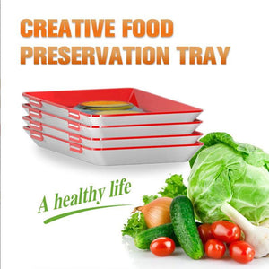 Creative Food Preservation Tray  Food Fresh Keeping  Fresh Spacer Organizer Food Preservate Refrigerator Food Storage Container