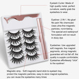 5 Pairs of Magnetic Eyelashes & Eyeliner Kit