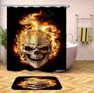 Día de Muertos Shower Curtain, Custom Sugar Skull Waterproof Polyester Fabric Shower Curtain For Bathroom Products