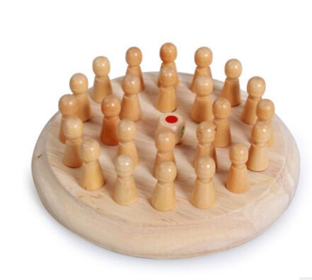 Kids Memory Match Stick Chess Wooden Chess Checkers Board Game Family Party Game Puzzle Baby Educational Toys