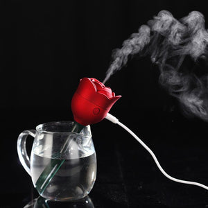 Rose Flower USB Mini Humidifier Air Purifier Aroma Diffuser Atomizer