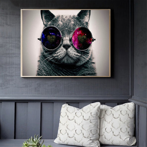 Galaxy Kitty Wall Art