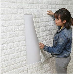 DIY Self Adhesive 3D Wall Stickers Bedroom Decor Foam Brick Room Decor Wallpaper Wall Decor Living Wall Sticker For Kids Room