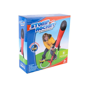 Kids Air Pressed Rocket Launcher Step Pump Children's Foot Toy Rocket with LED Outdoor Light Parents Children