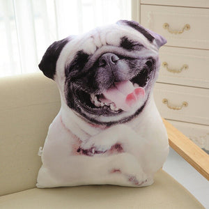 LREA New 50CM cojines Plush 3D dog cushion Cute Expression Simulation Pillow Bedroom Sofa Decorations home