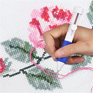 Magic Embroidery Pen Punch Needle Kit Craft Embroidery Threads  Cross Stitch Embroidery Hoop DIY Knitting Sewing Accessory Tools