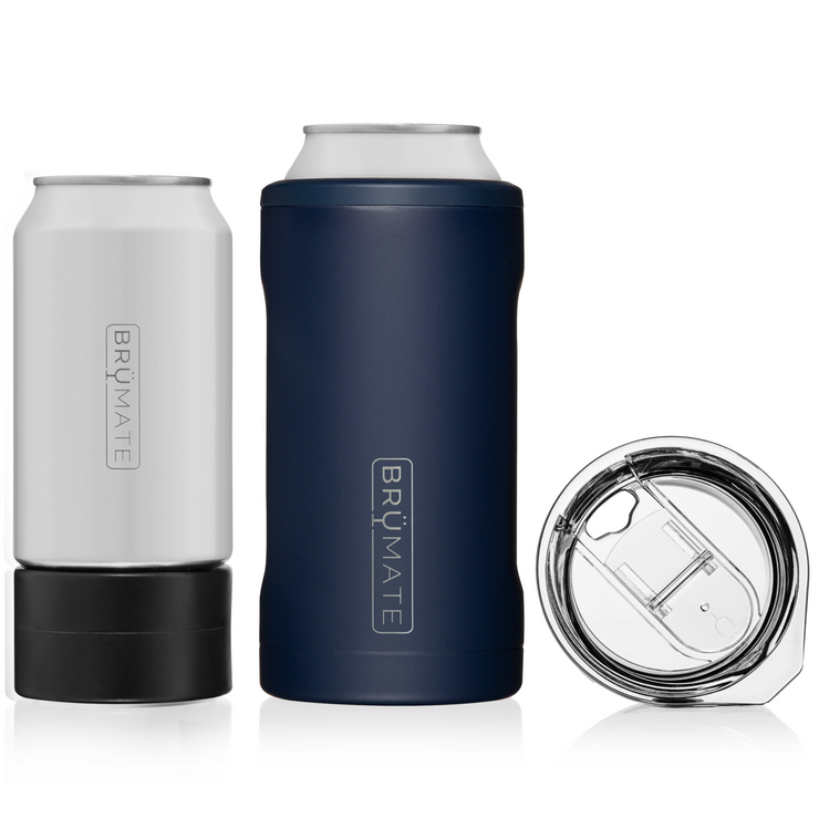 HOPSULATOR TRÍO 3-IN-1 | MATTE NAVY 16OZ/12OZ CANS)