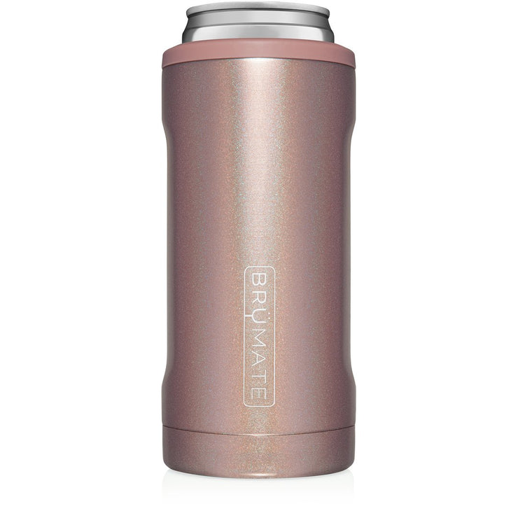HOPSULATOR SLIM | GLITTER ROSE GOLD  (12OZ SLIM CANS)