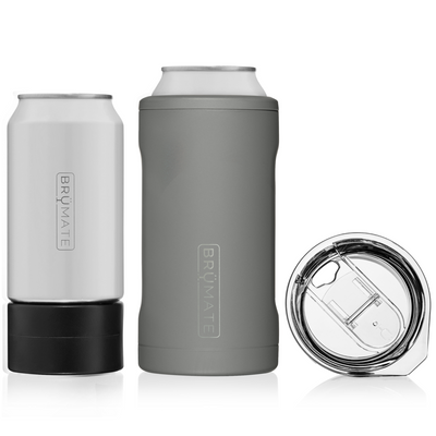 HOPSULATOR TRÍO 3-IN-1 | MATTE GREY 16OZ/12OZ CANS)