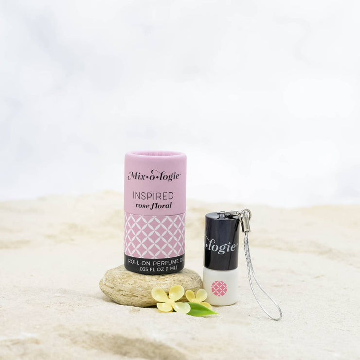 Inspired (rose floral) Mini Roll-On Perfume Keychain (1 mL)