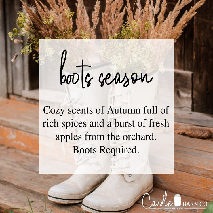 Boot Season 8oz Mason Jar Soy Candles