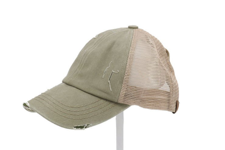 Criss Cross High Pony Ball Cap