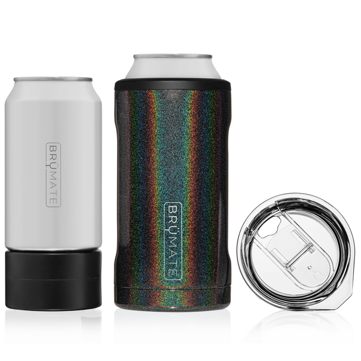 HOPSULATOR TRÍO 3-IN-1 | GLITTER CHARCOAL (16OZ/12OZ CANS)