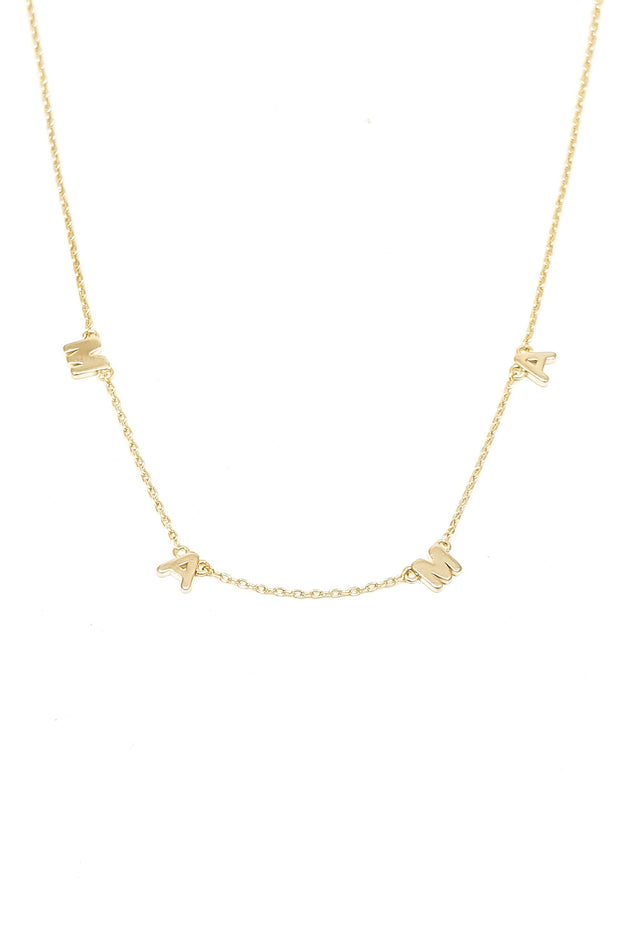 MAMA necklace in Gold