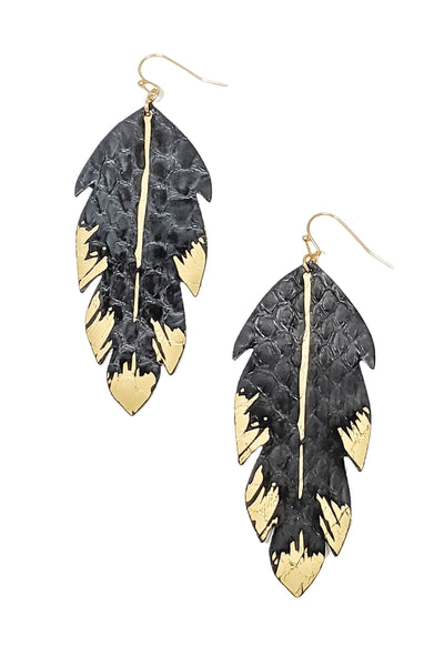 Nolene Earrings in Black & gold