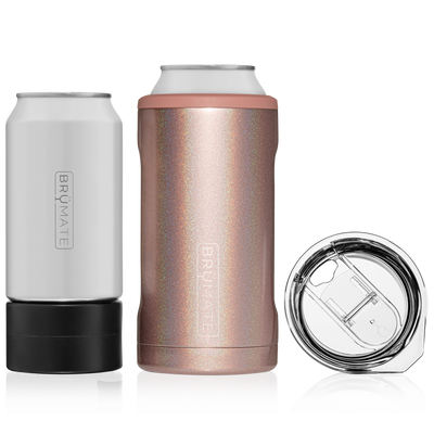 HOPSULATOR TRÍO 3-IN-1 | GLITTER ROSE GOLD (16OZ/12OZ CANS)