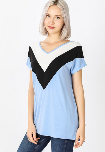The Eva Top - Spring Blue