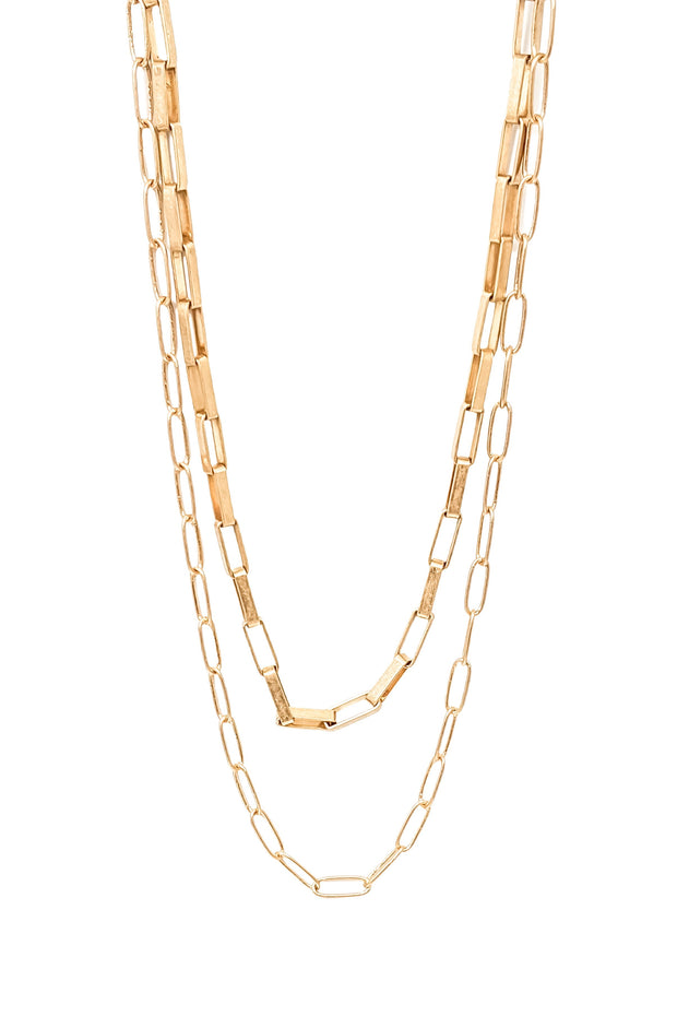 Glenna Necklace in Gold
