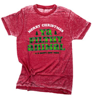 Merry Christmas Ya Filthy Animal Graphic Tee