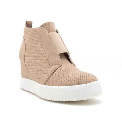 Becky Sneaker Wedges - Tan