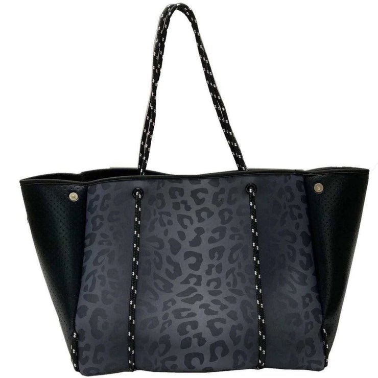 The Lyla Tote - Luxe Black Leopard