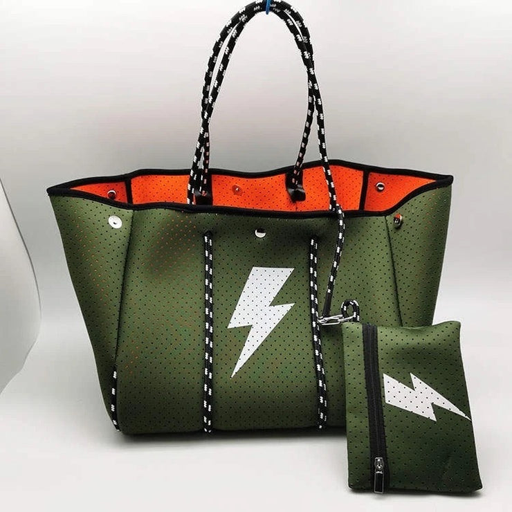 The Lyla Tote - Olive Bolt