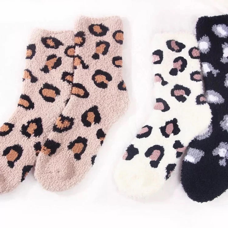 Cozy Sock Collection - Leopard Edition